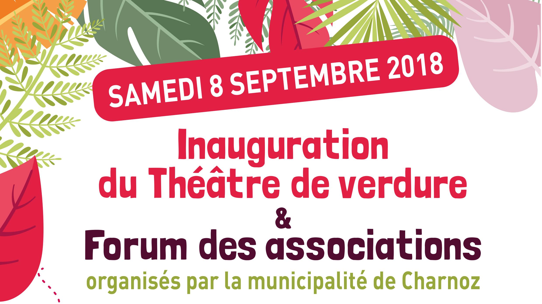 Inauguration du théâtre de verdure et Forum des associations