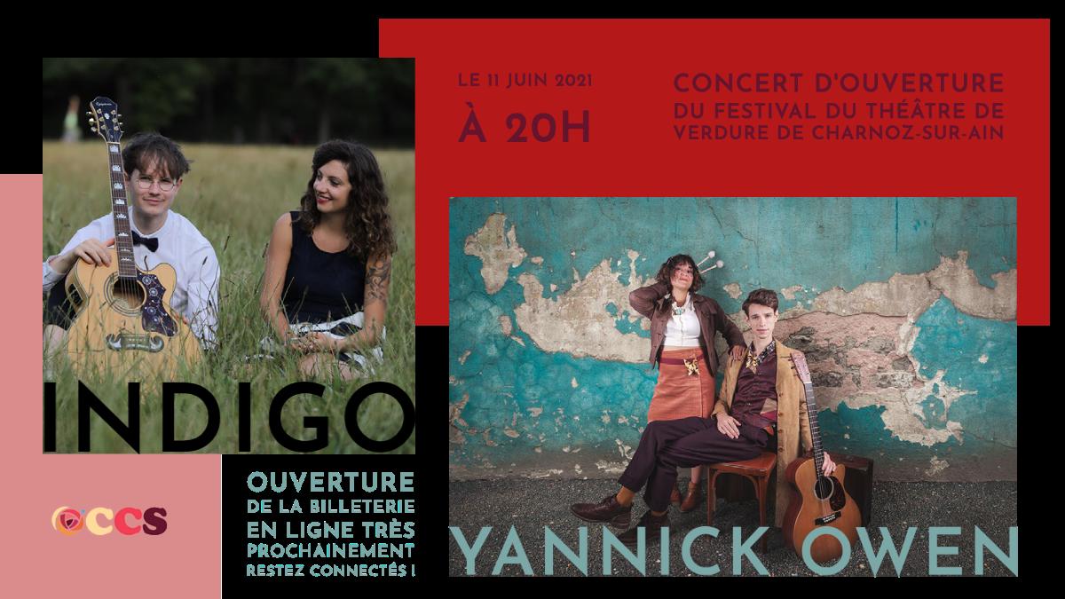 Concert au Théâtre de Verdure, le 11 juin à partir de 20h